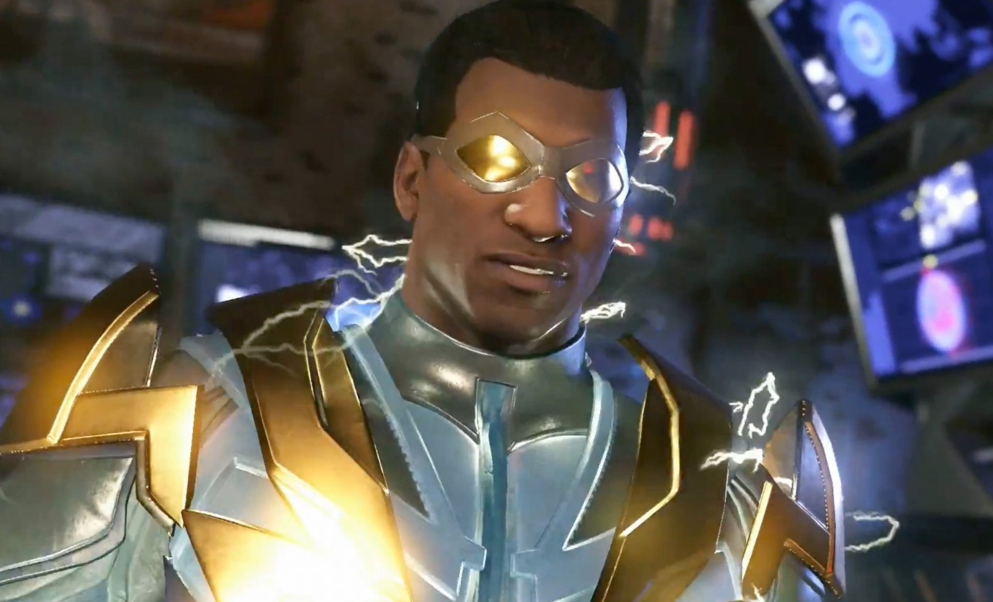 Screw Raiden, I'm playing as Black Lightning in Injustice 2 screenshot