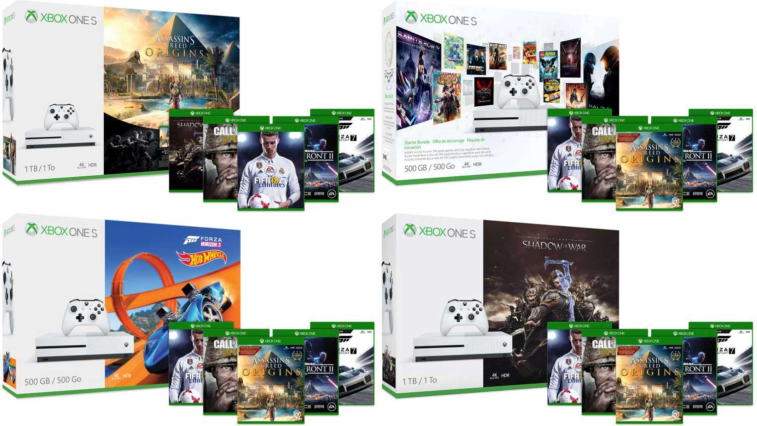 Pre-holiday Xbox One S deals start at $199, bundles with free COD: WWII screenshot
