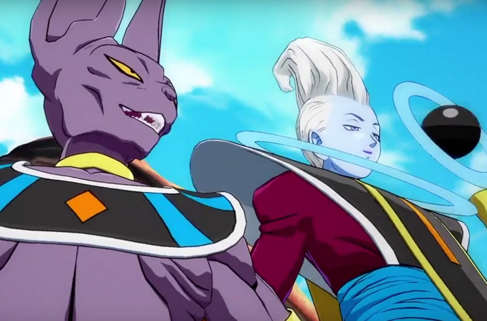 Check out Dragon Ball FighterZ's intro movie, and me goofing with Beerus screenshot