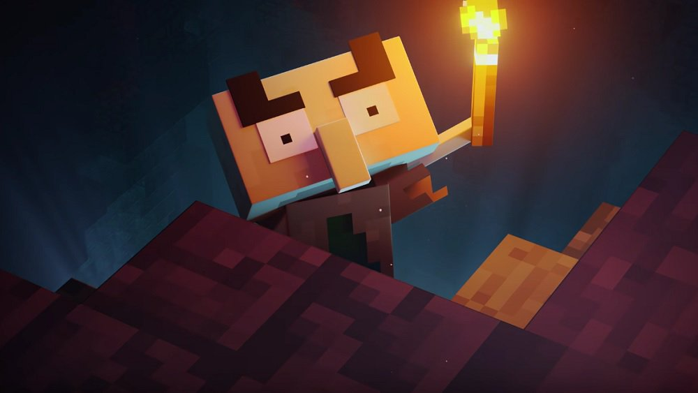 Minecraft Dungeons' cinematic is holding out for a hero screenshot