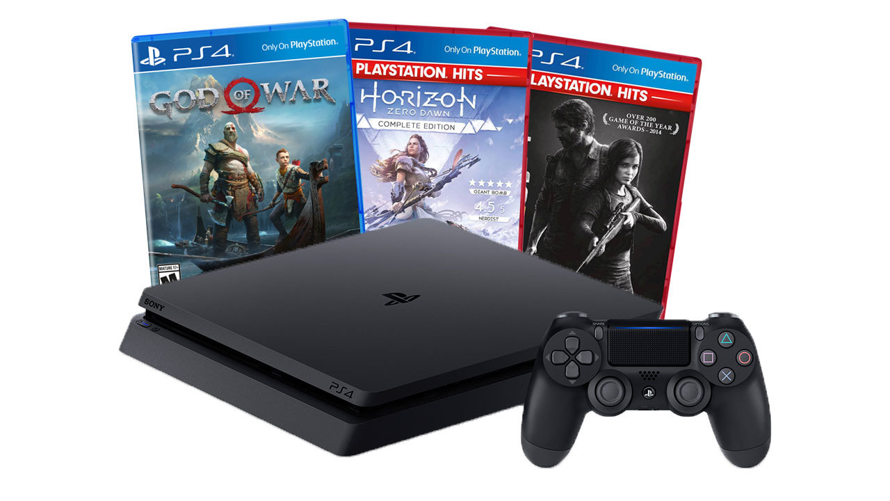 PS4 Slim 1TB bundle with God of War, Horizon Zero Dawn, and The Last of Us Remastered - $200