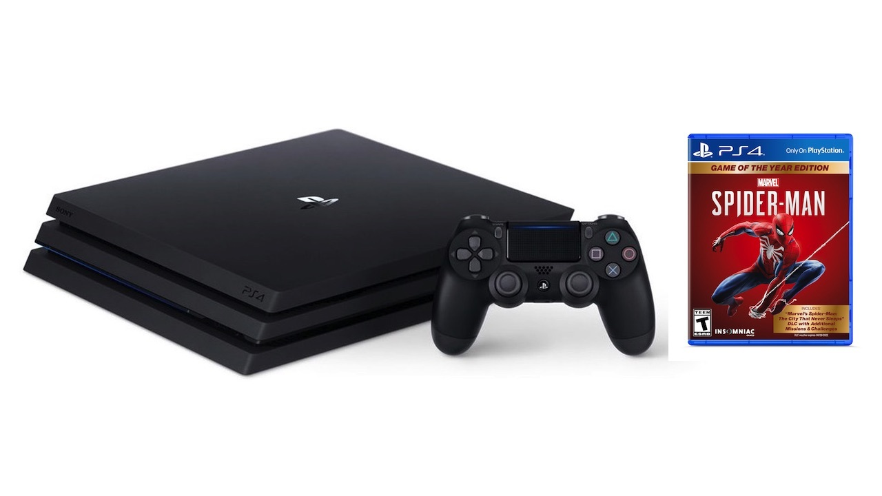 PS4 Pro bundle with Marvel's Spider-Man GOTY -- $289