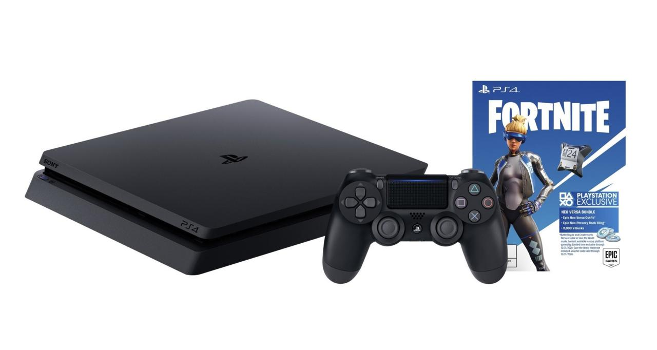 PS4 Slim 1TB bundle with Fortnite Neo Versa bonus and $60 Kohl's Cash - $200