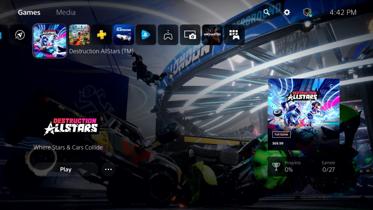 If you're starting your console up on a fresh start, the Home Screen is where you'll land.