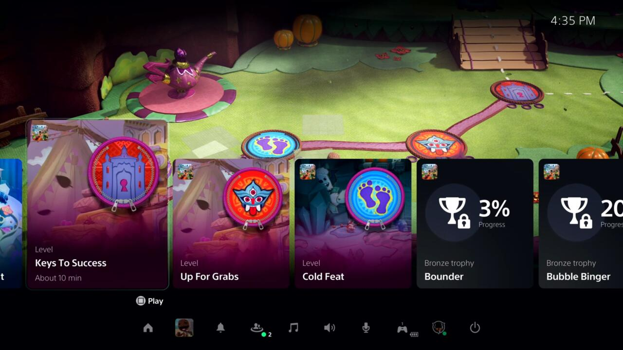 The big card-based feature is Activities, which are a way to track what you have and haven't done within the game you're playing.